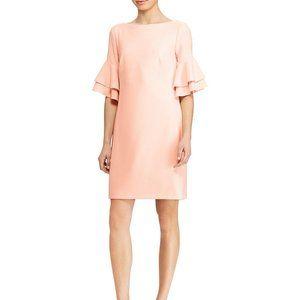 Size 18 Ralph Lauren Pink Ruffle Sleeve Dress
